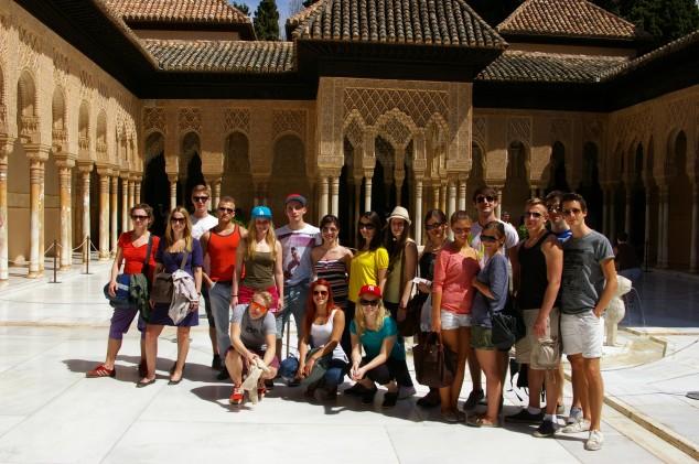 Gruppenfoto in Granada