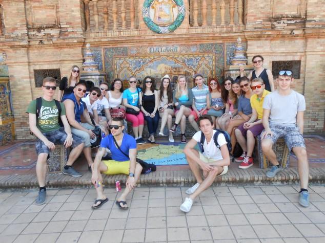 Gruppenfoto in Sevilla