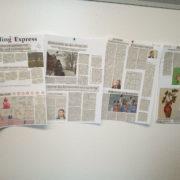 Wandzeitung geklebt